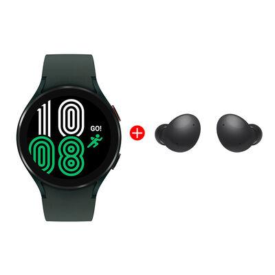 Combo Smartwatch Samsung Galaxy Watch4 44mm Green + Audífonos Bluetooth Samsung Galaxy Buds2 Graphite