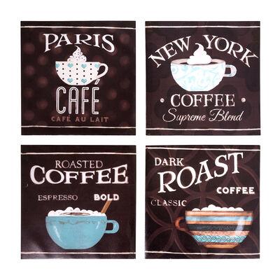 Set de 4 Canvas Vgo  25X25 Serie Café
