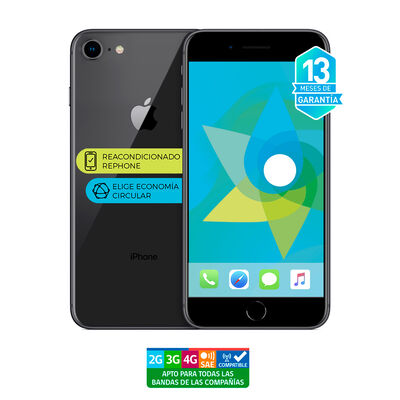 "Celular Apple Iphone 8 64GB 4.7"" ReacondicionadoGris Liberado"