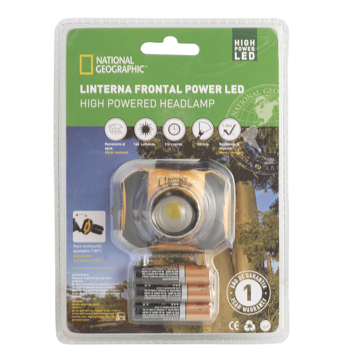 Linterna Frontal National Geographic Power Led