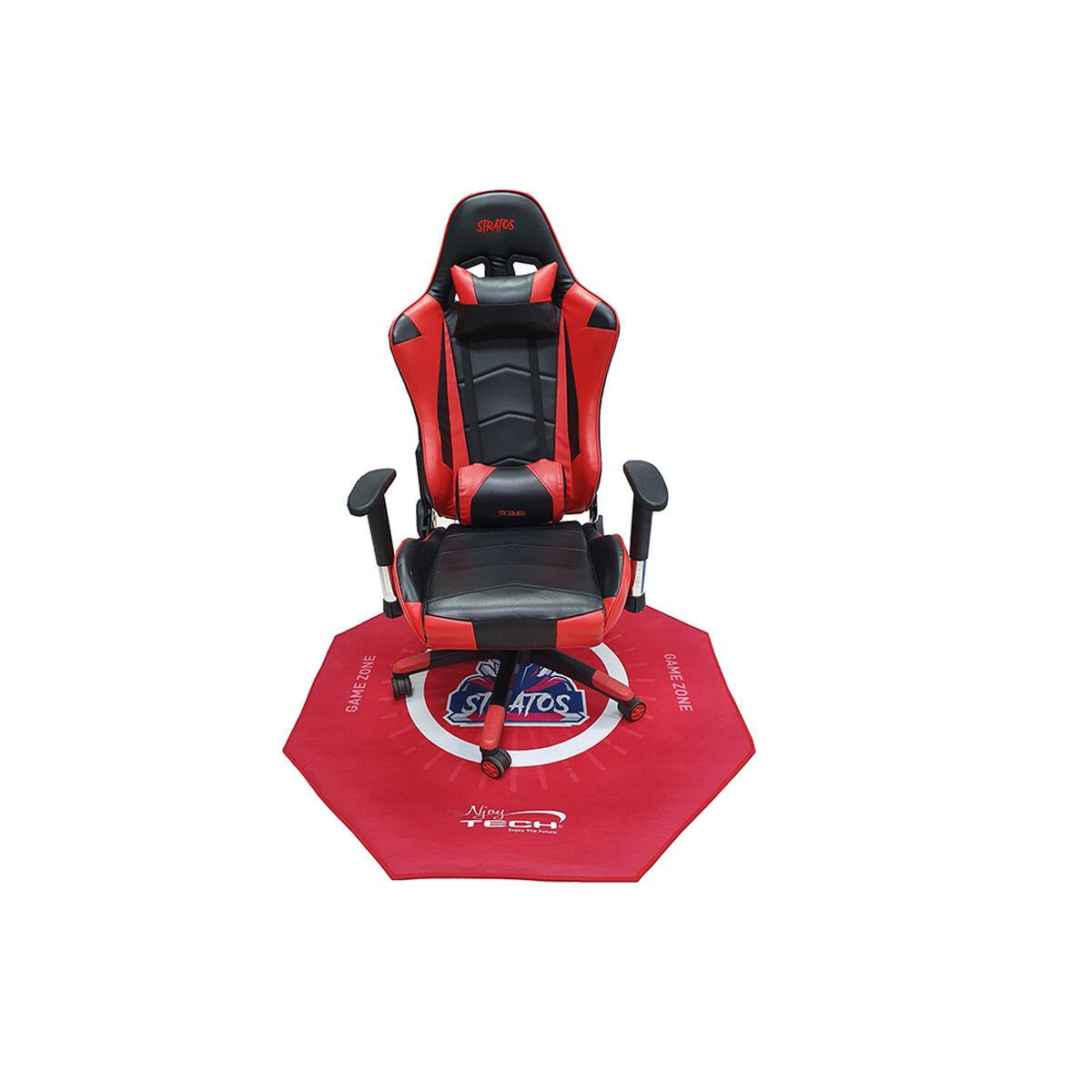 Alfombra Gamer Njoytech NJ-PRORED4 Hexagonal Roja