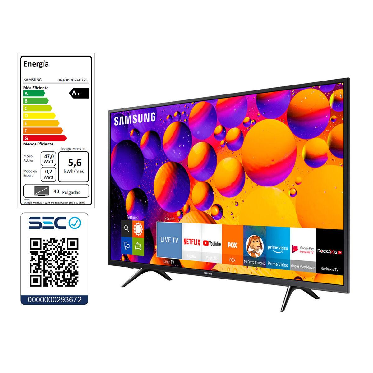 """LED 43"""" Samsung UN43J5202AGXZS Smart TV Full HD"""