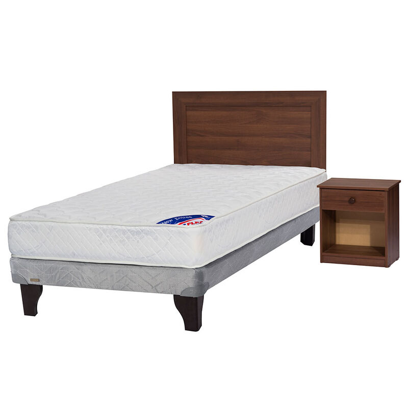 Cama Europea New Entree 1,5 Plazas + Set Maderas Asturias
