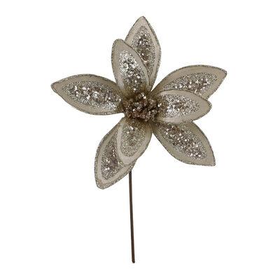 Flor Decorativa Dorada Santini 30 cm
