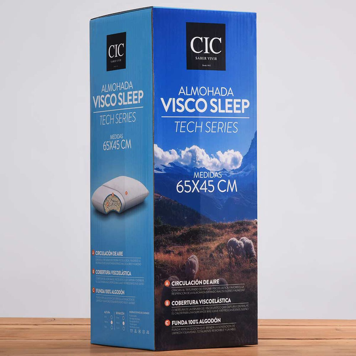 Almohada Viscoelástica Visco Sleep 65x45 cm