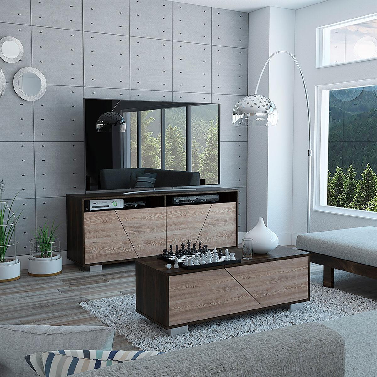 "Rack Tv 70"" + Mesa Centro Fraktal"