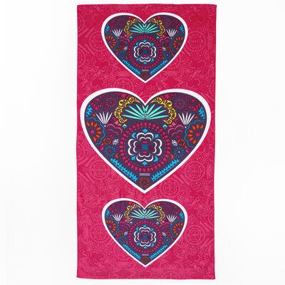 Toalla de Playa Velour Heart 75 x 150 cm