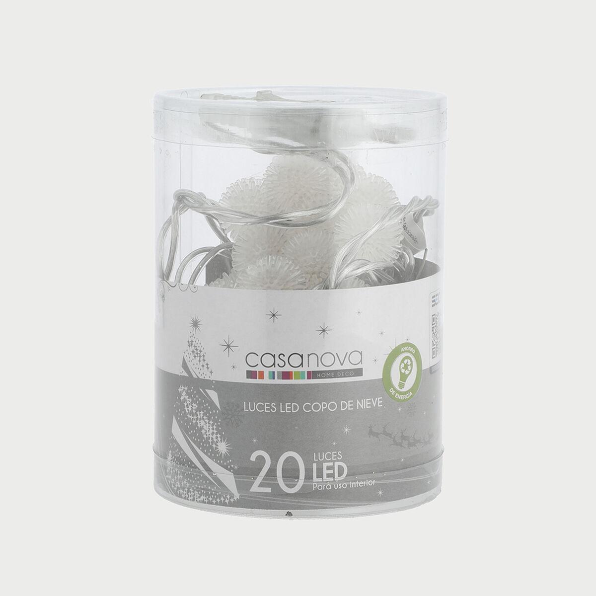 Set 20 Luces Copo De Nieve Blanco