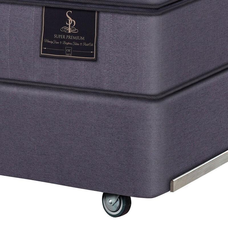 Box Spring Súper Premium CIC 2 Pl Div + Set Textiles