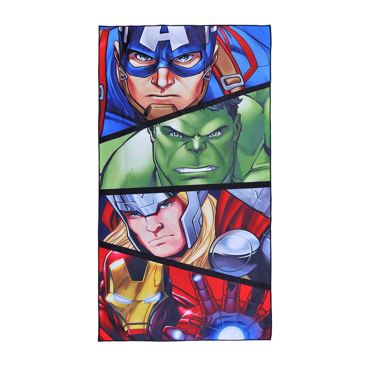 Toalla de Playa Suede Avengers Face 70X140 Cm