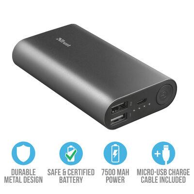 Batería Externa Luco Trust 7.500 mAh
