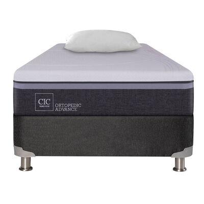 Box Spring CIC 1,5 Plazas Ortopedic Advance + Almohada