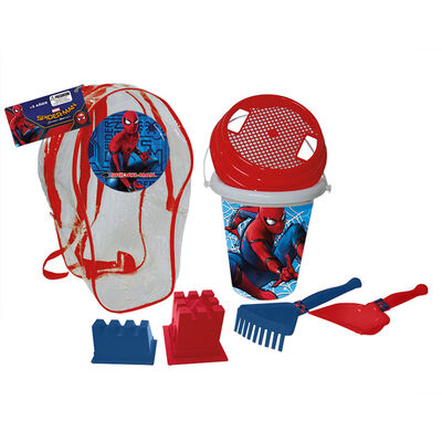 Set De Playa Mochila Con Acces. Spiderman Marvel
