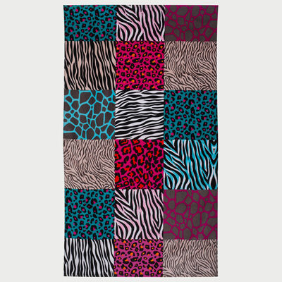Toalla de Playa Velour Zebra 100 x 180 cm