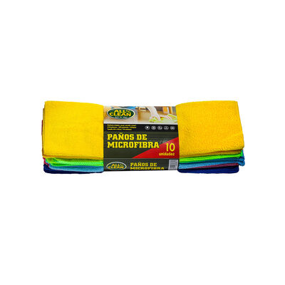 Pack 10 Paños Microfibra Allclean 40 x 30 x 40 cm