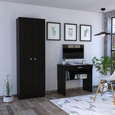 Escritorio Office 1 + Closet 2 Puertas Home