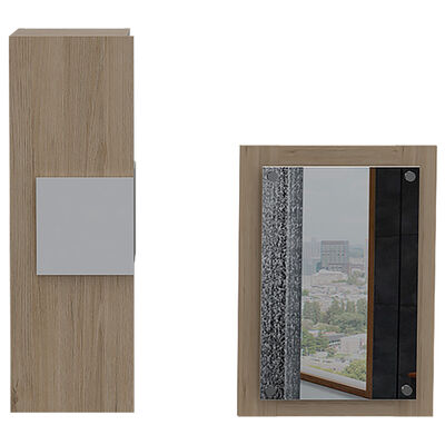 Set Muebles Auxiliar + Espejo