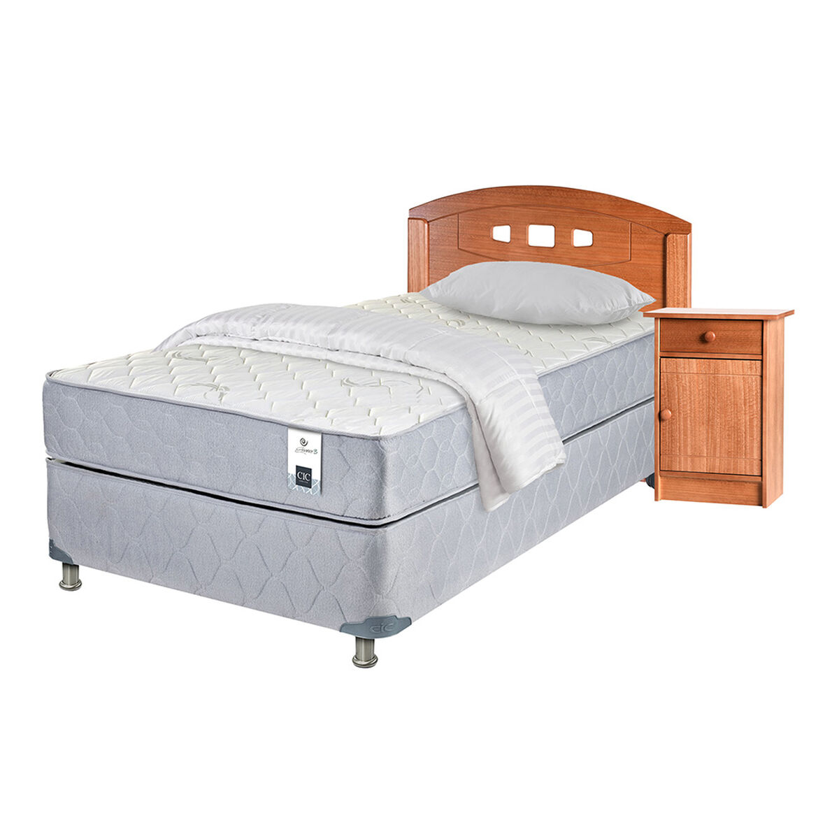 Box Americano 1.5 Plazas Essence 3+ Set Gales Single+ Textil
