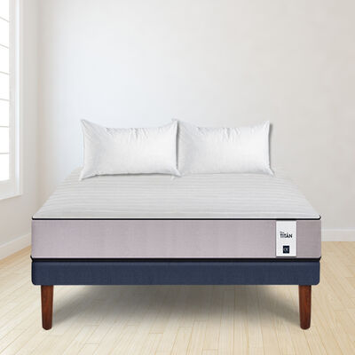 Cama Europea Cic 2 Plazas New Titan + Pack Almohadas Celta Imperial Soft 45 x 65 cm