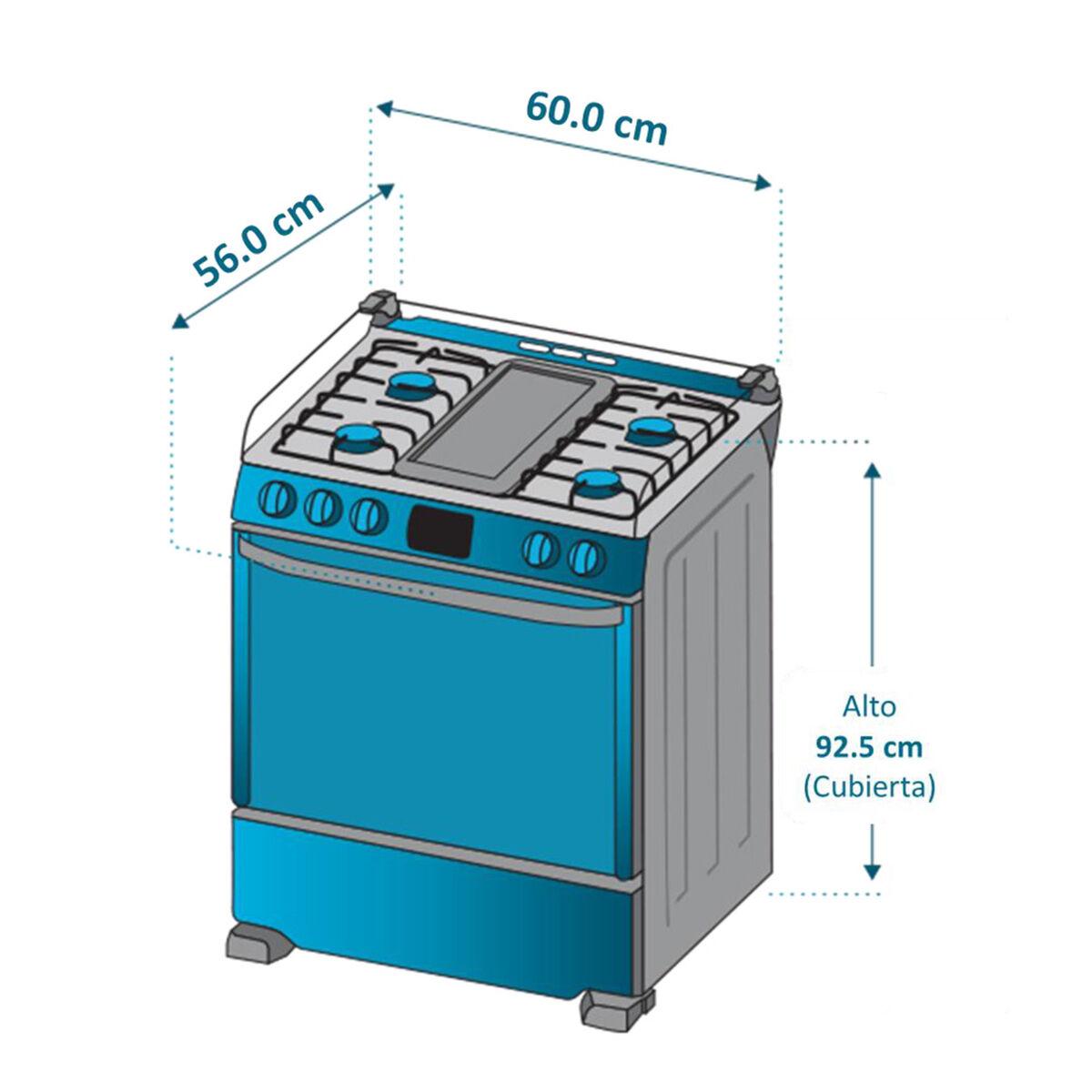 Cocina a Gas Mabe Andes60TX4 4 Quemadores