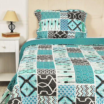 Quilt Retro 1,5 Plazas Multicolor