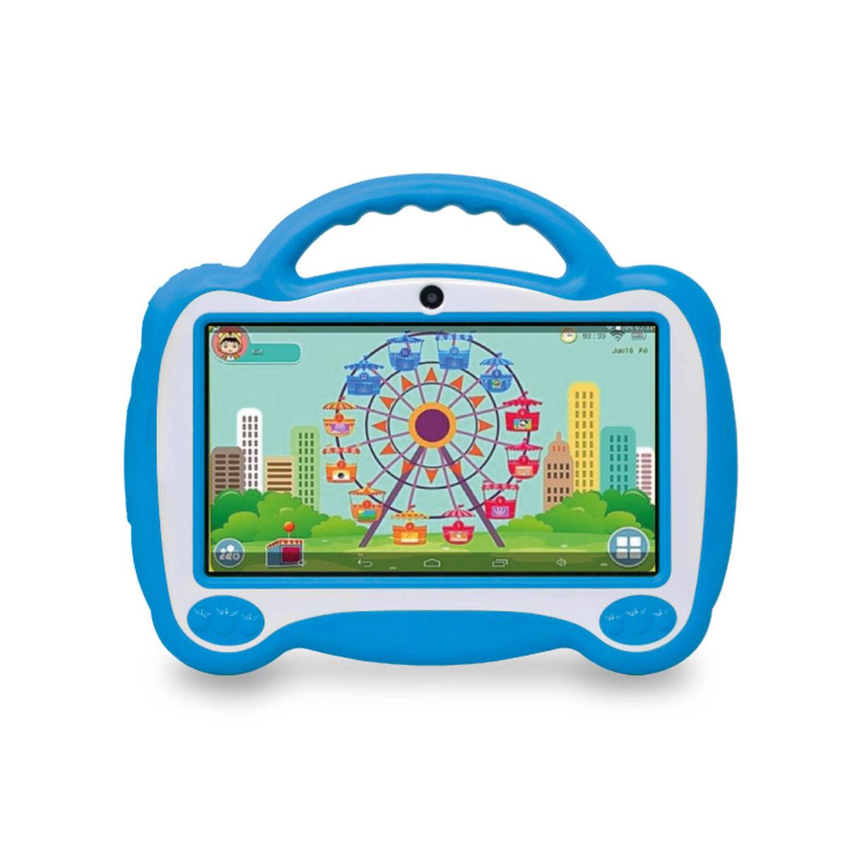"Tablet Microlab KID Quad Core 1GB 16GB 7"" Azul + Aud"