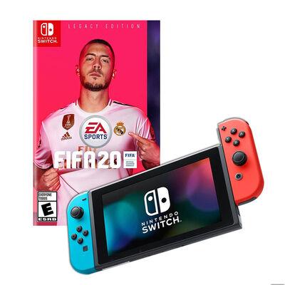 Nintendo Switch Neón + Juego Ea Sports Fifa 2020