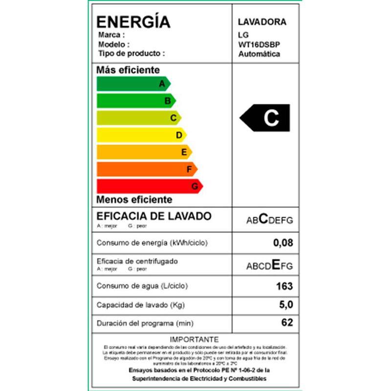 Lavadora Automática LG WT16DSBP 16 kg