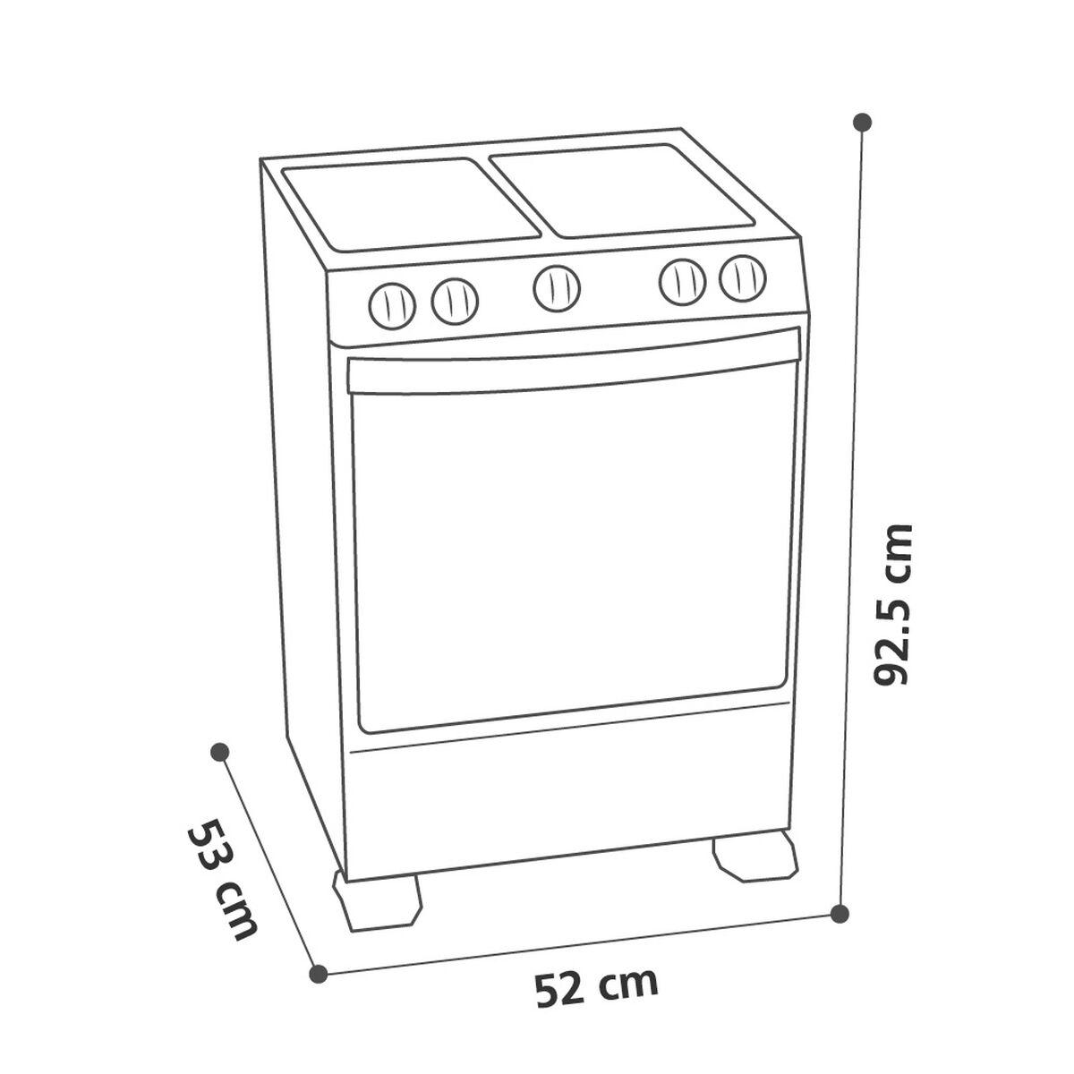Cocina a Gas Mabe CMC20AXX 4 Quemadores