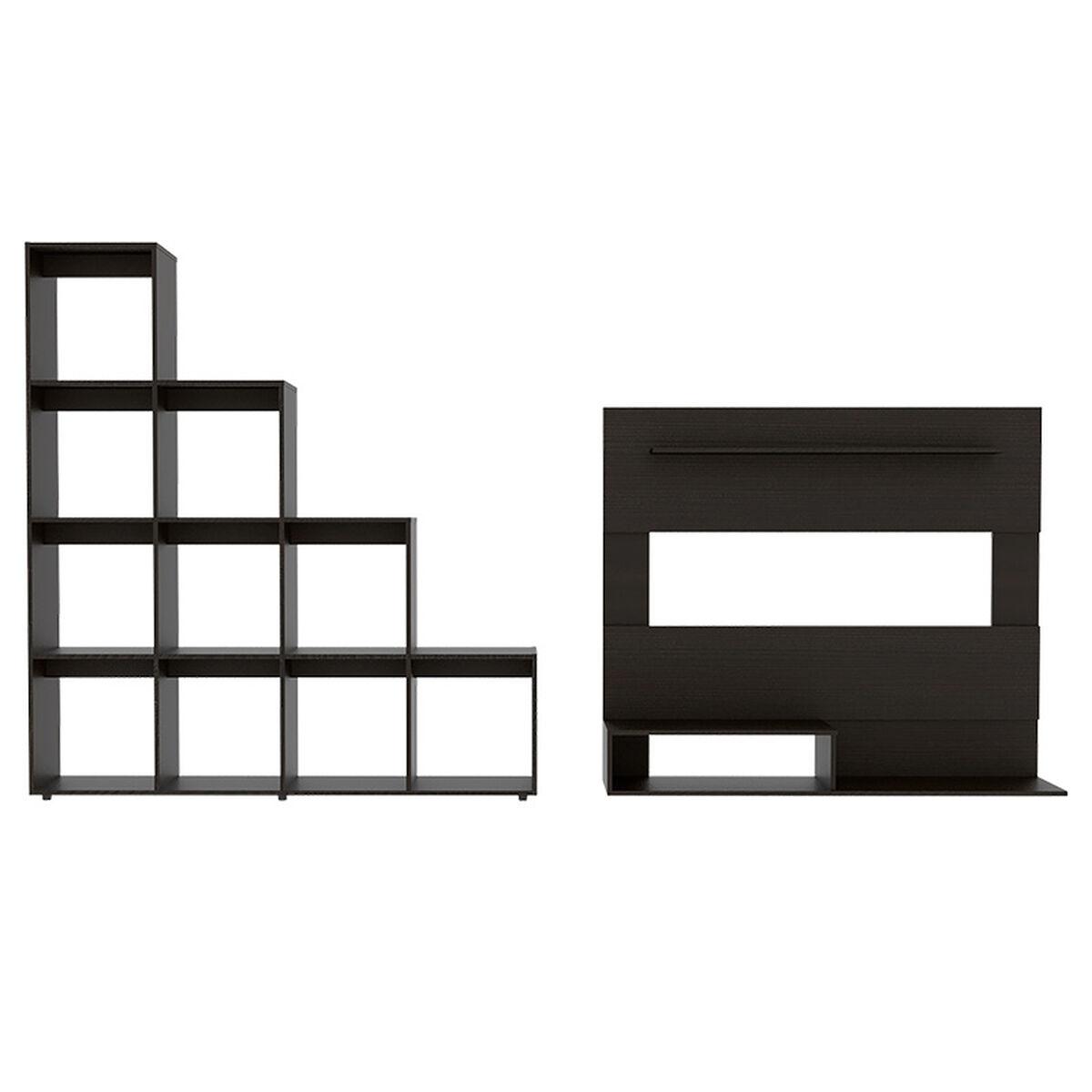 Set Panel TV + Biblioteca Escalera