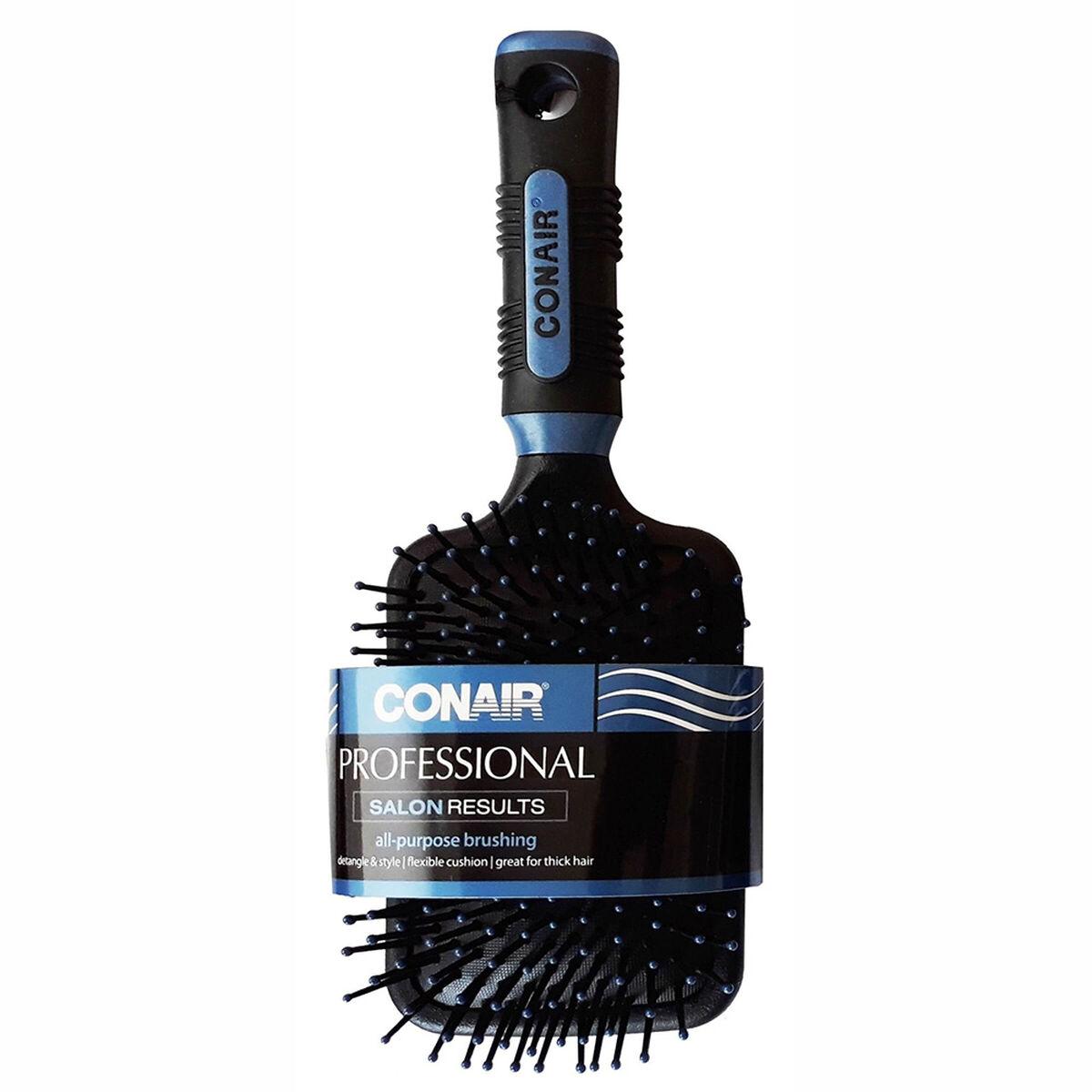 Cepillo Cuadrado Acolchado Salon Results Azul