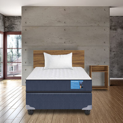 Box Americano CIC Excellence 1,5 Plazas + Set Madera Casanova Nogal + Almohada Celta Imperial Soft  50 x 70 cm
