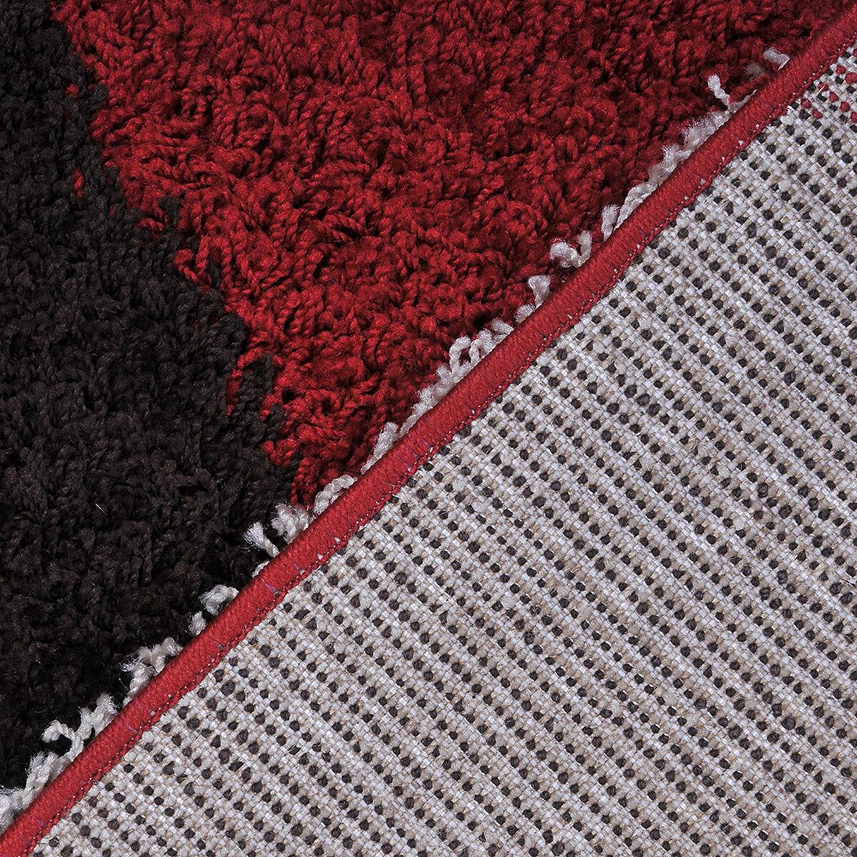 Alfombra Shaggy Roma Círculos Rojo 150X220 Cm