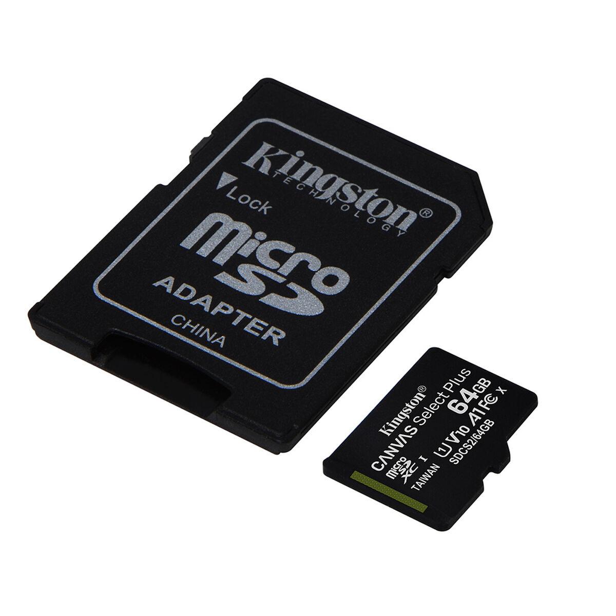 Tarjeta Micro SD Kingston 64GBcon Adaptador