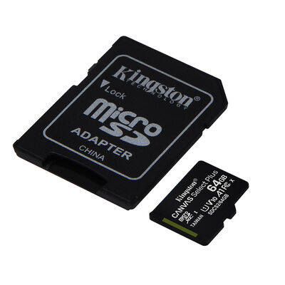 Tarjeta Micro SD Kingston 64GB con Adaptador