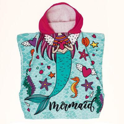 Toalla de Playa con Capucha Velour Mermaid 60 x 120 cm