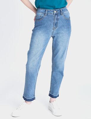 Jeans Rectoc Tiro Alto Mujer Fiorucci