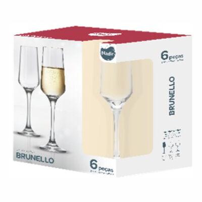 Set 6 Copas de Champagne Brunello 225 ml