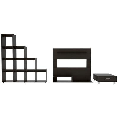 Set Panel TV + Biblioteca + Mesa