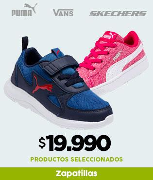 zapatillas 19.990  * productos seleccionados