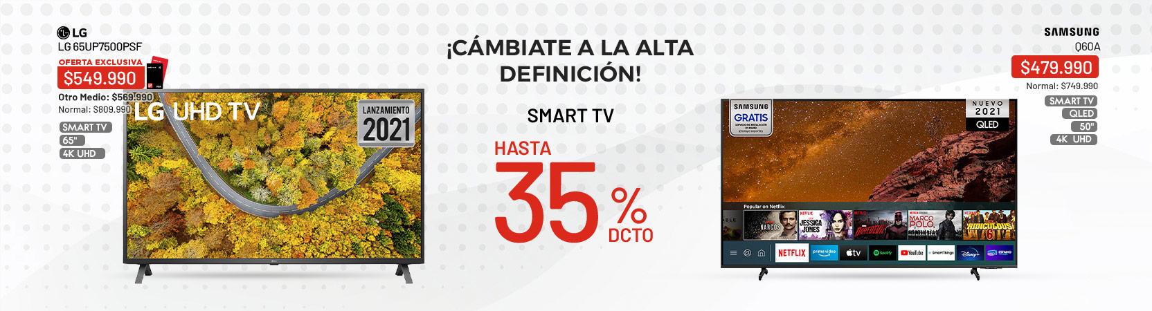TV hasta 35%