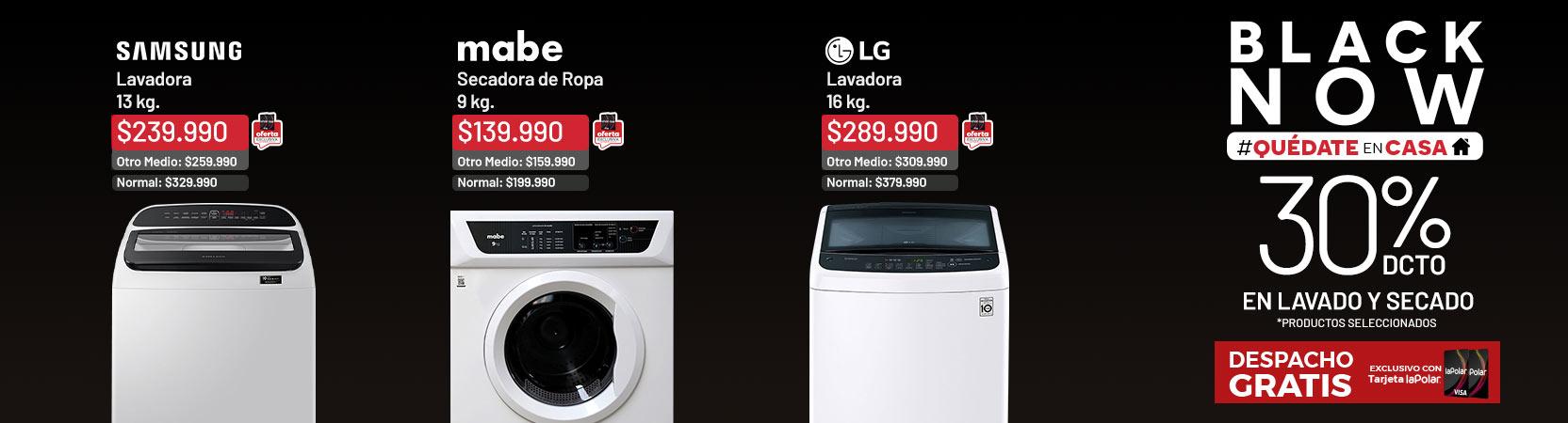 30% dcto. en Lavado y Secado *Productos Seleccionados | Despacho Gratis TLP | Lavadora Samsung WA13R5260BG 13 kg.