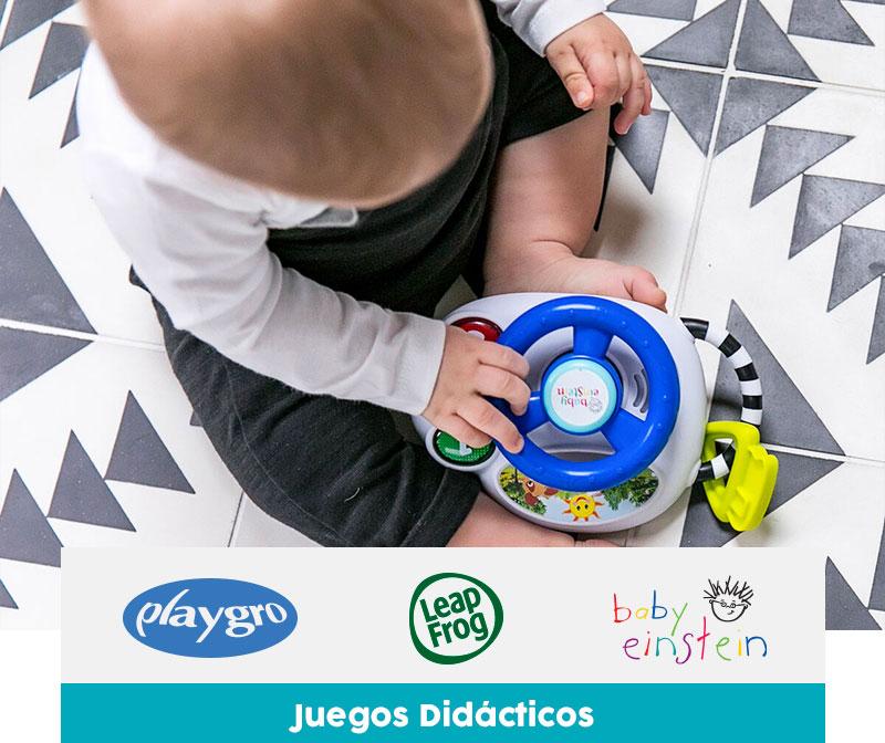 Juegos Didacticos | Logo Marca PlayGro - Leap Frog - Baby Einstein