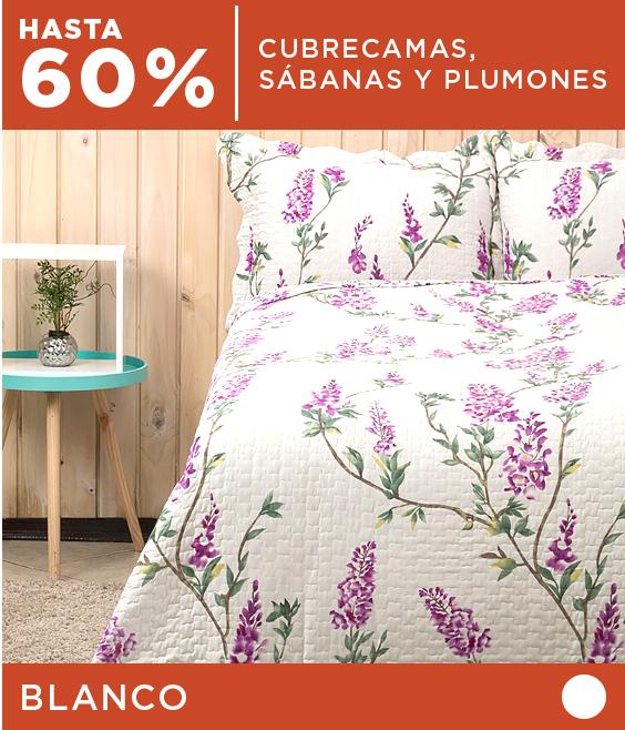 Hasta 60% dcto. en Cubrecamas, Sábanas y Plumones