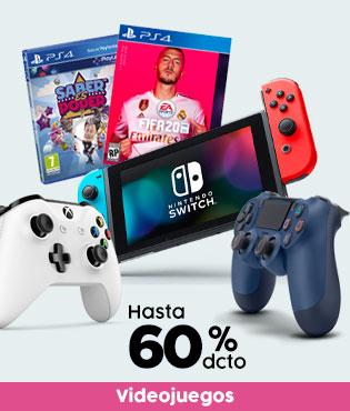 Videojuegos hasta 60% dcto