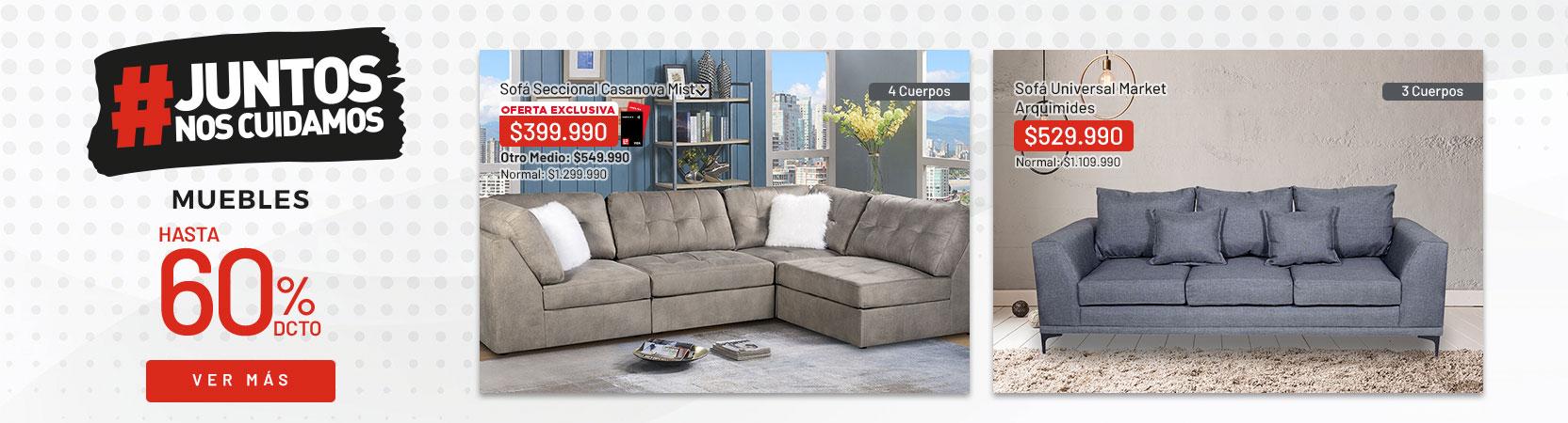 Muebles hasta 60% dcto