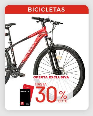 hasta 30% tlp bicicletas