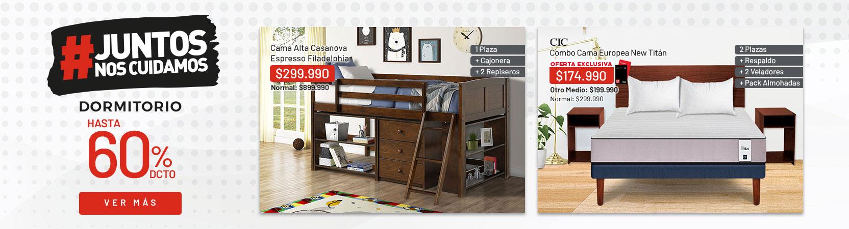 Dormitorio Hasta 60% dcto - Despacho express productos seleccionados