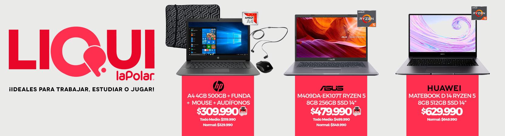 ¡Ideales para trabajar, estudiar o jugar!   Notebook HP 14-CM0029 A4 4GB 500GB 14 + Funda + Mouse inalámbrico + Audífonos