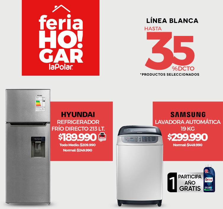 Linea Blanca con logo Feria